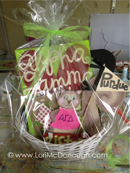 Moms weekend at agd silent auction basket