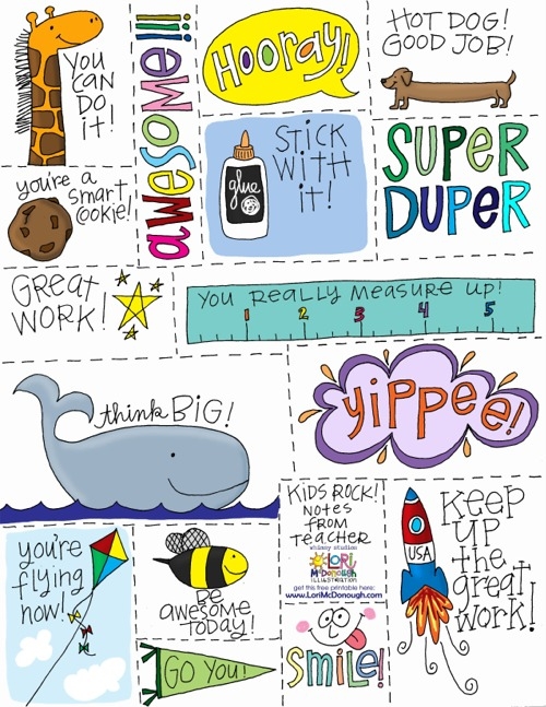 Fresh Picked Whimsy Notes From Teacher - Free Printable-2367
