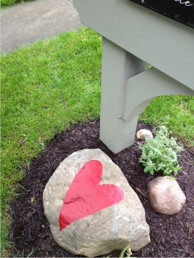 Mailbox heart redo