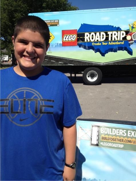 Griff legos at the fair