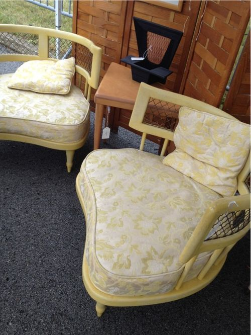 Yellow chair pair