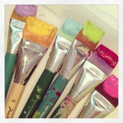 Paintbrush rainbow
