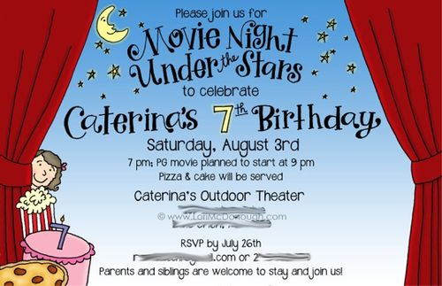 Caterinas bday invite
