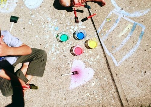 Nanny mcd sidewalk chalk