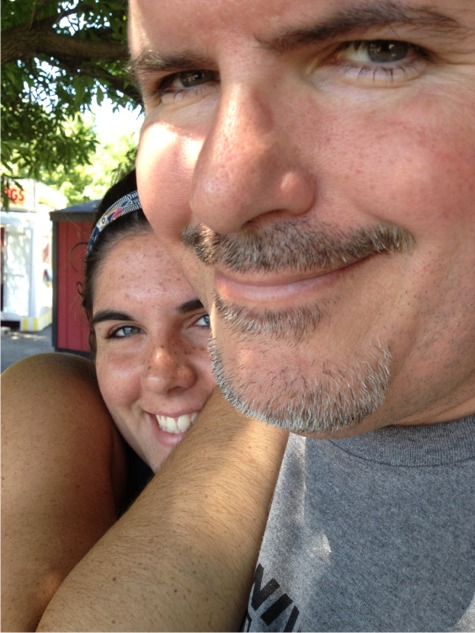 Kate and daddy at the fair