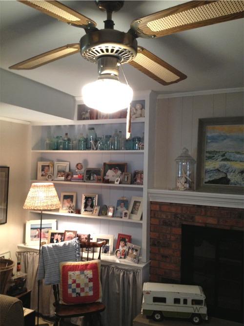 Overhead lighting before