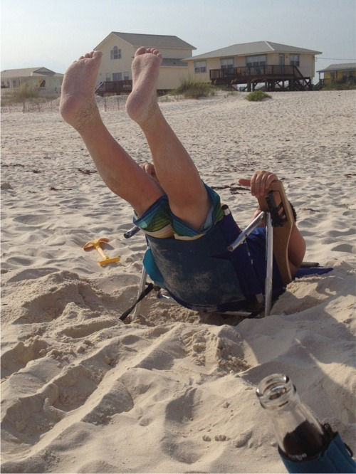 Beach chair fail