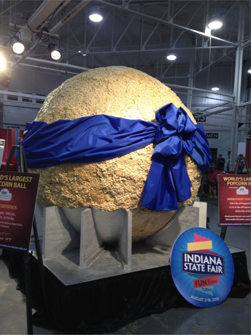 World record popcorn ball