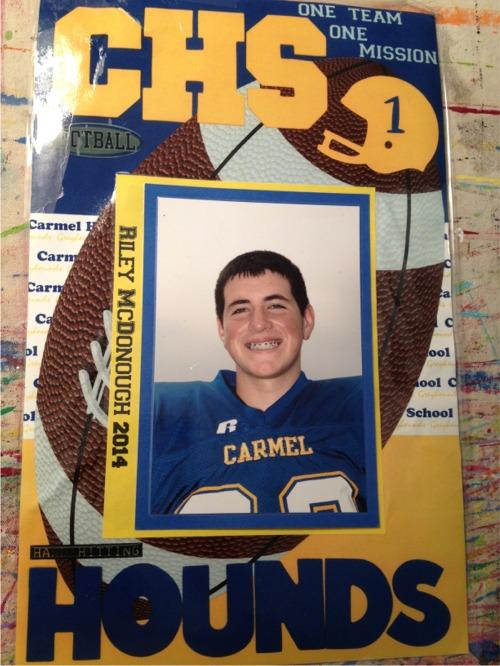 Riley freshman football locker sign