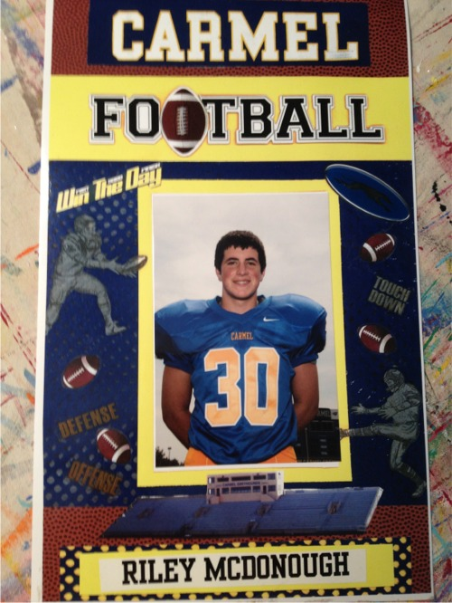 Riley soph football locker sign
