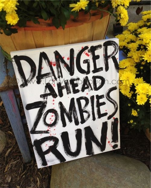 Zombies sign