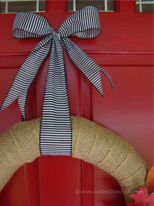 Autumn wreath ribbon