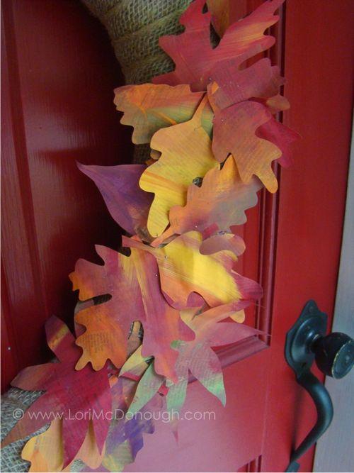 Fall wreath tutorial the leaves