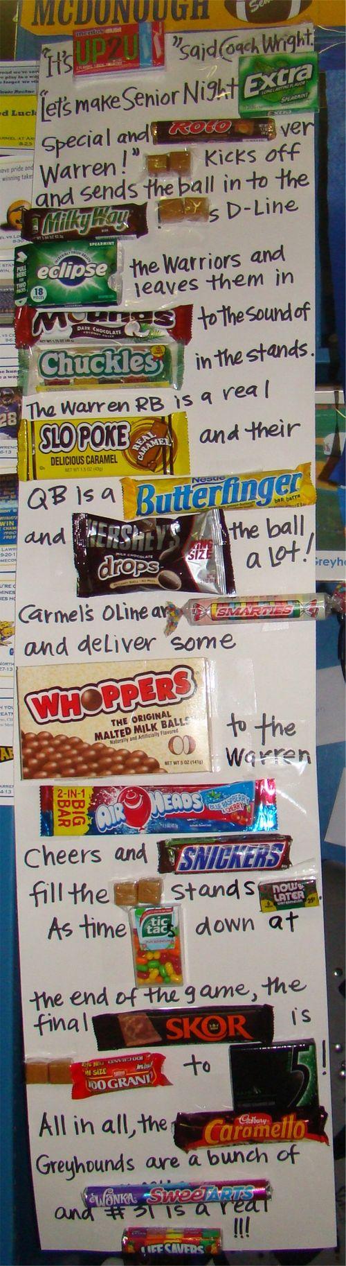 Senior week candy story