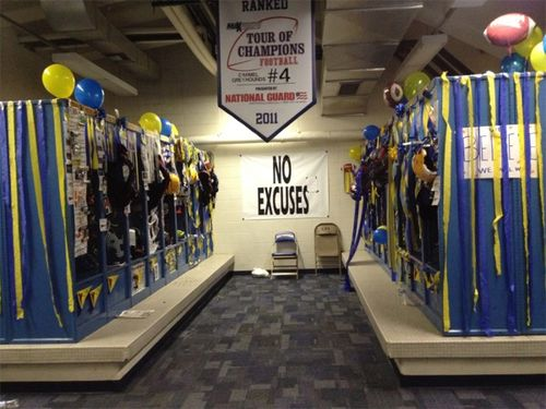 Senior week locker room