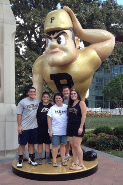 Purdue homecoming with pete