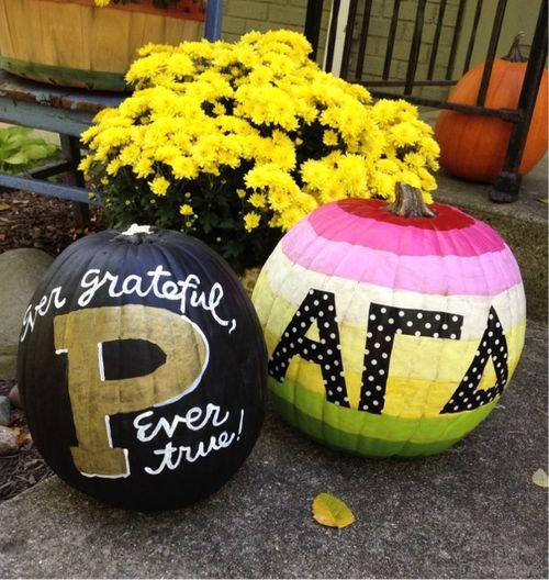 Purdue handpainted pumpkins