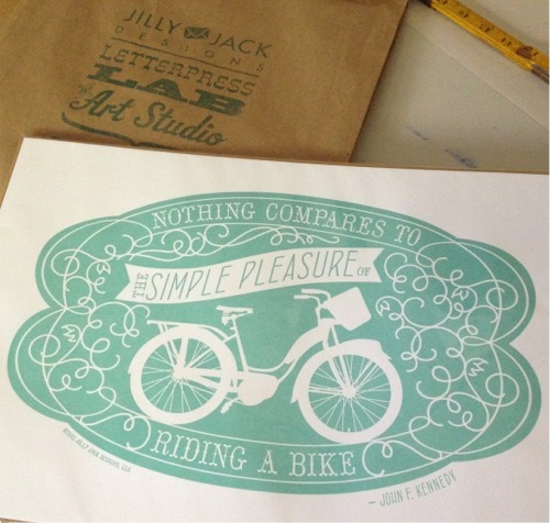 Jilly jack bike print