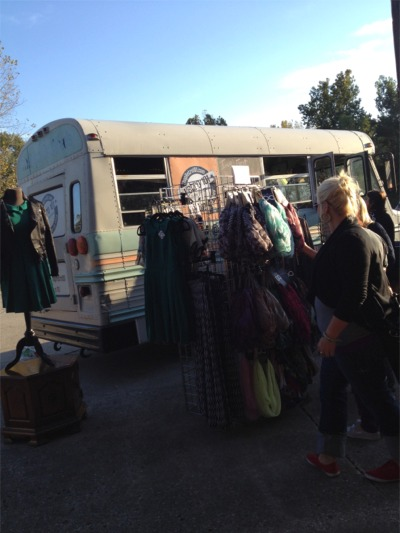Barn sale bus boutique