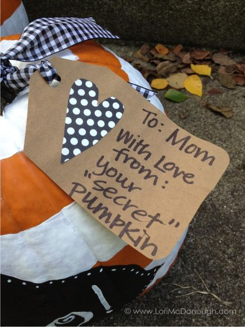Secret pumpkin tag