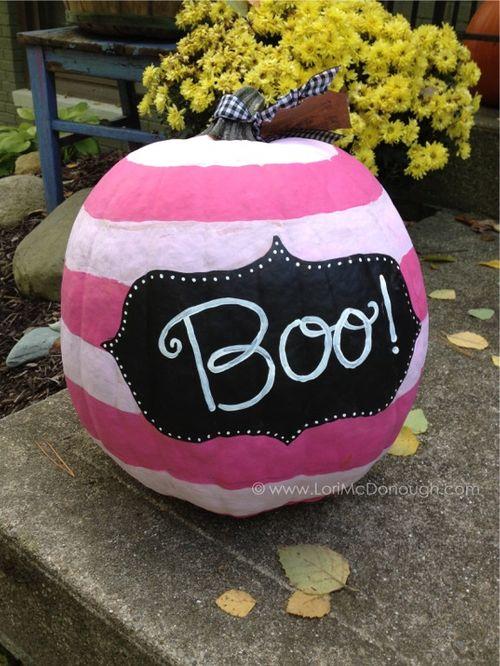 Pink striped pumpkin
