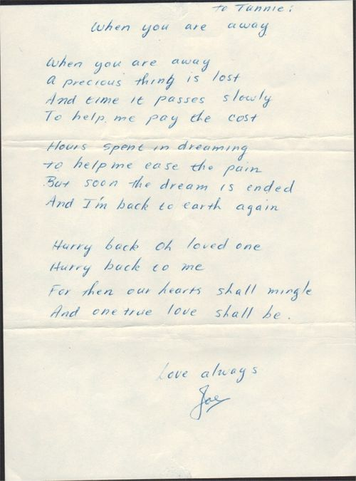 Joe and ruthann love poem