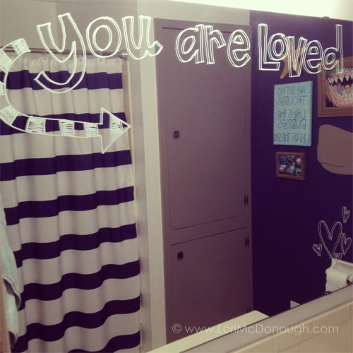 You are loved mirror