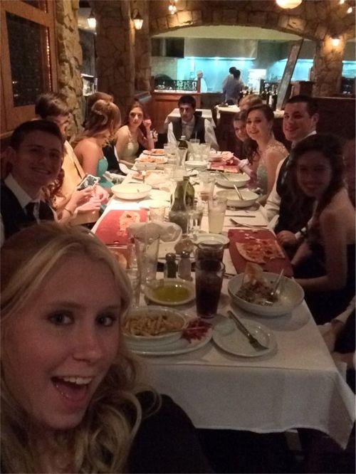 Prom dinner selfie