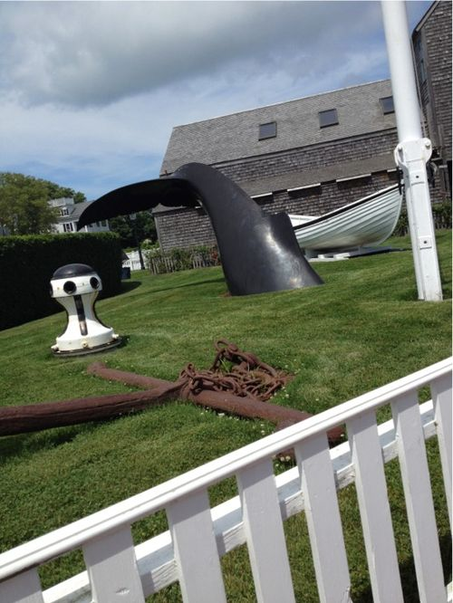Cape cod whale sculpture