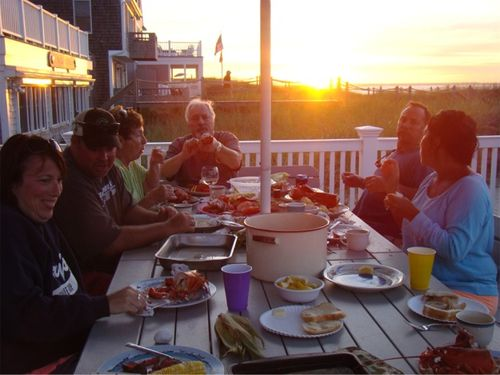 Cape cod lobster on the deck