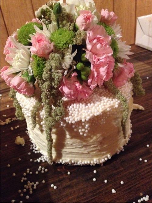 Farm wedding cake topper