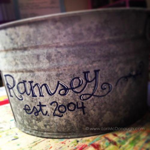 Personalized beverage bucket