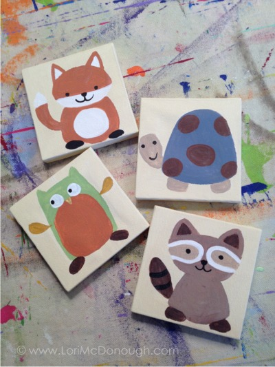 Forest friends mini canvas
