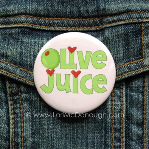 Olive juice button
