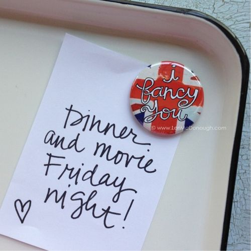 Fancy magnet and note