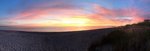 Cape cod sunrise panorama