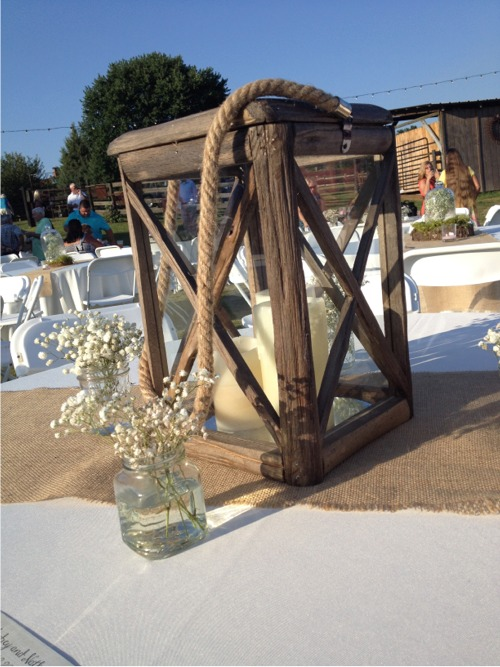 Farm wedding centerpieces