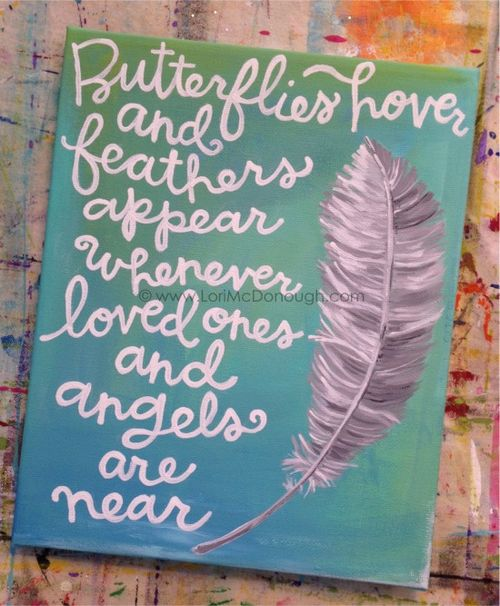 Feathers and angels print