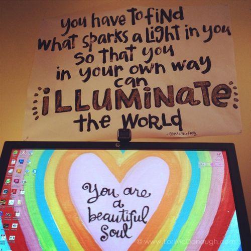 Illuminate the world sign