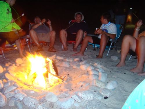 Cape cod bonfire