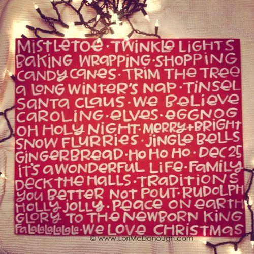 We love christmas sign