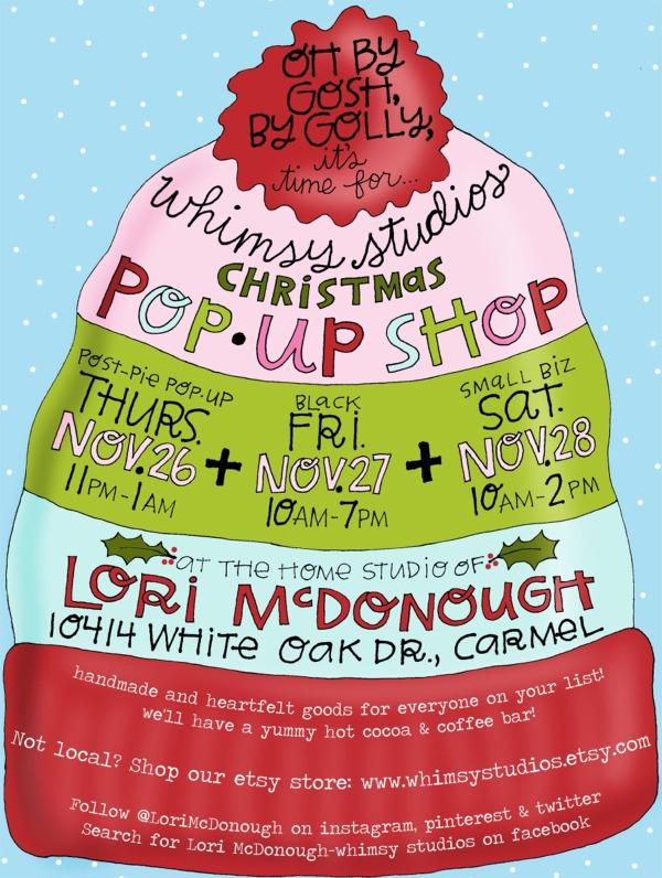 2015 christmas pop up flyer