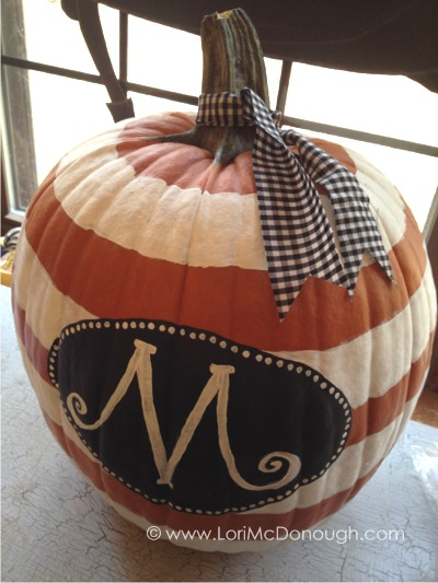 Yummy october pop up shop monogram pumpkin