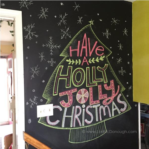 Katie chalkboard wall christmas