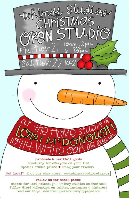 Whimsy studios 2014 christmas open studio
