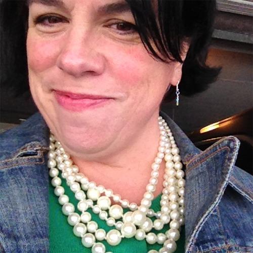 Lori in pearls