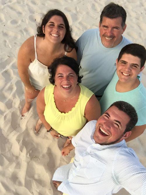 Family selfie stick