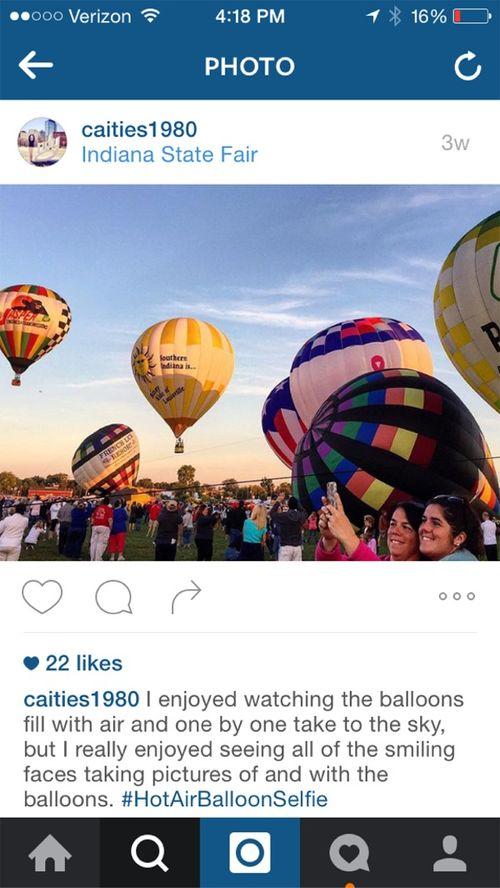 Hot air balloon selfie surprise